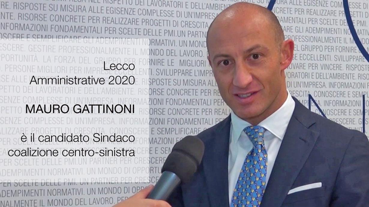 Mauro Gattinoni candidato sindaco Lecco coalizione centro sinistra