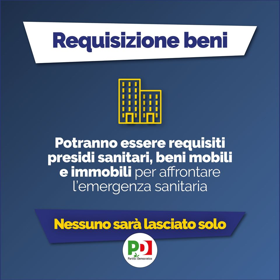 decreto cura italia requisizione beni