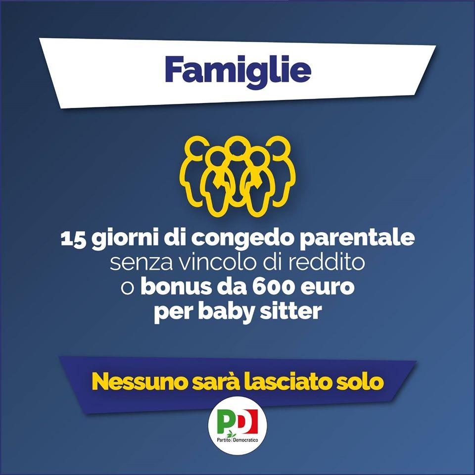 decreto cura Italia famiglie