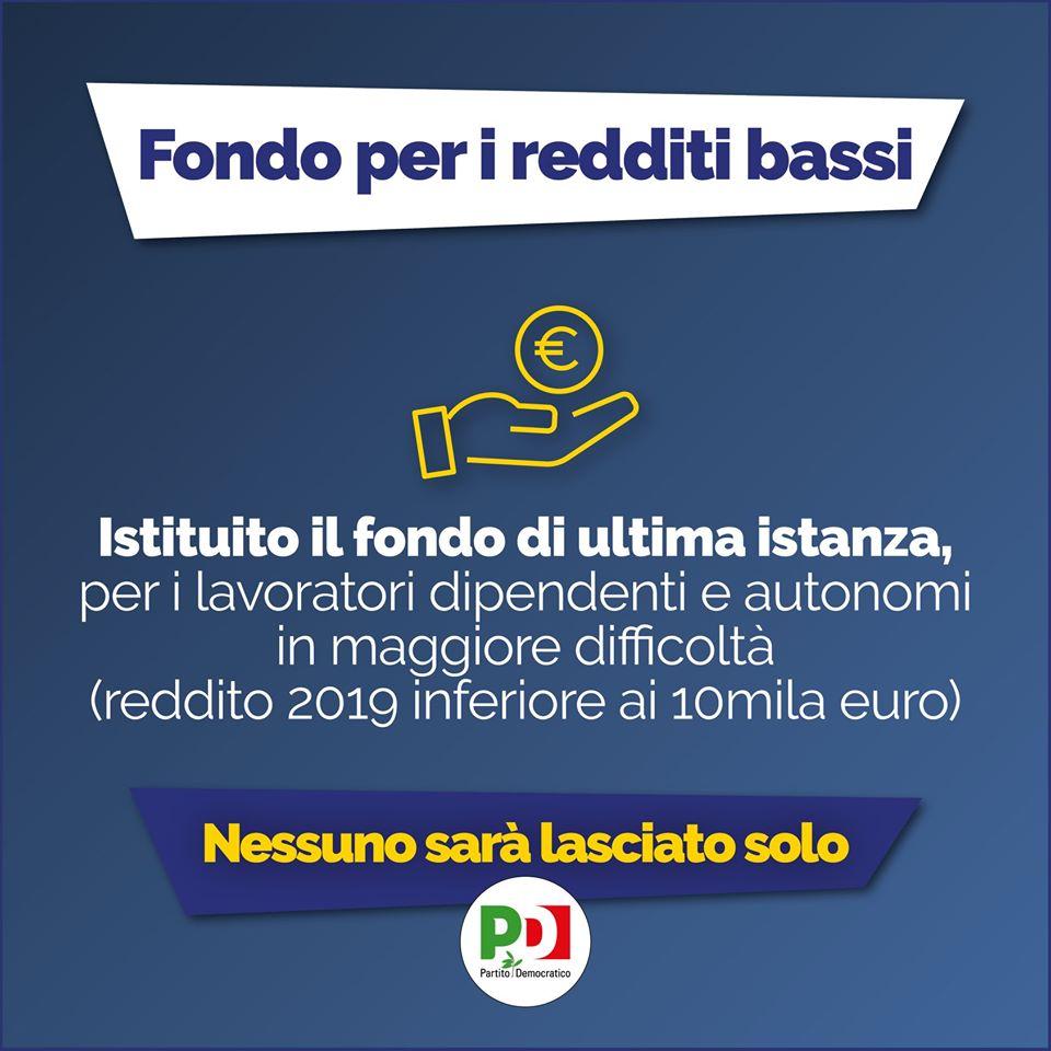 decreto cura italia fondi per i redditi bassi