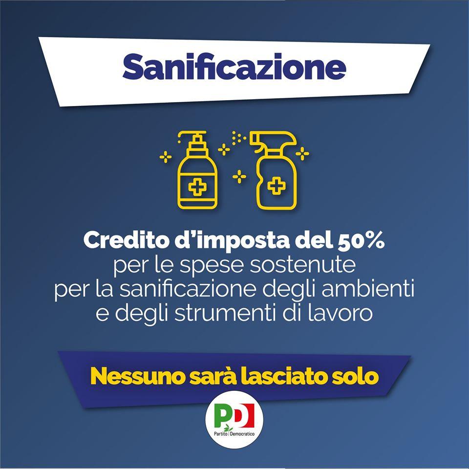 decreto cura italia sanificazione