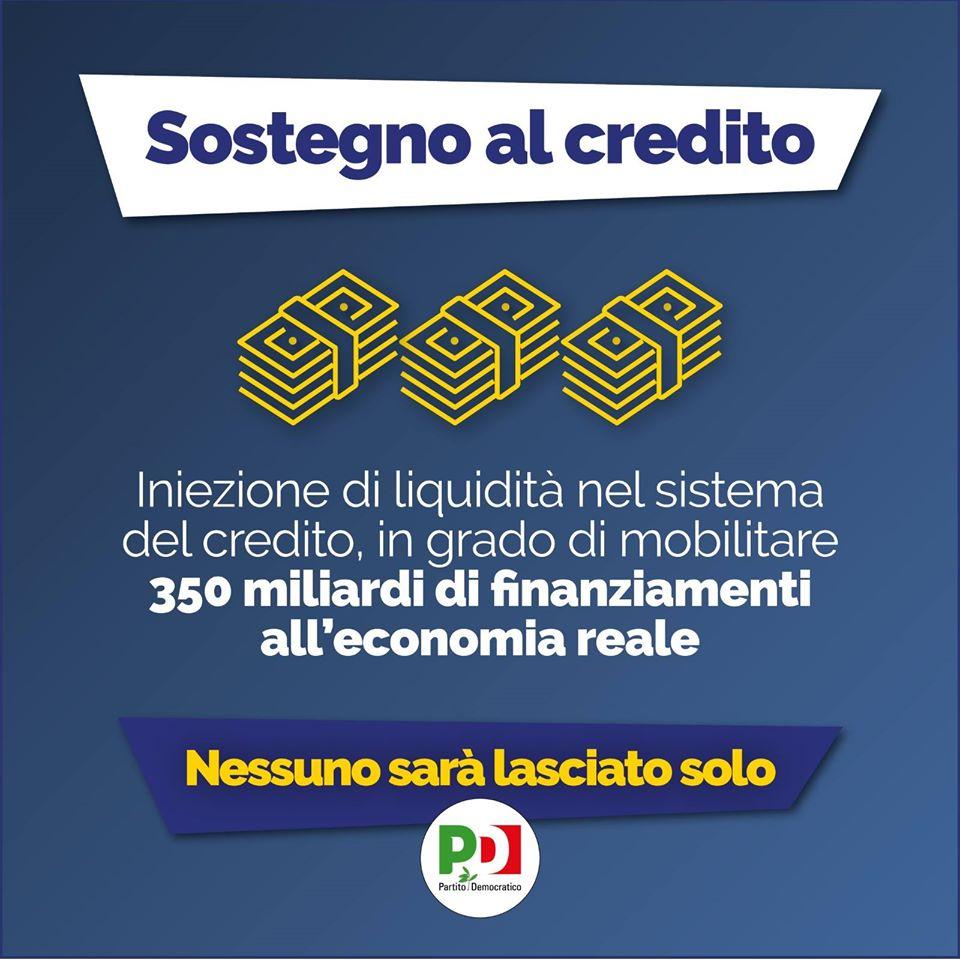 decreto cura italia sostegno al credito