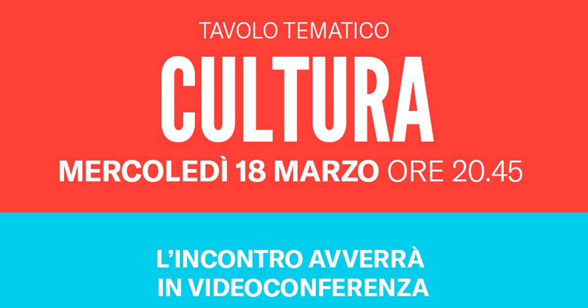 tavolo tematico cultura Gattinoni Sindaco