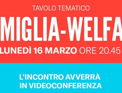 Tavolo tematico FAMIGLIA WELFARE