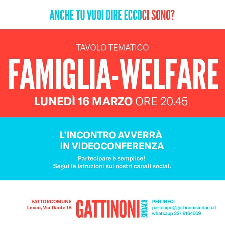 tavolo tematico famiglia welfare gattinoni sindaco