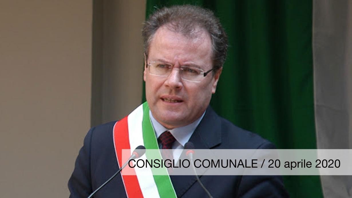 Virginio Brivio consiglio comunale Lecco 20 aprile 2020