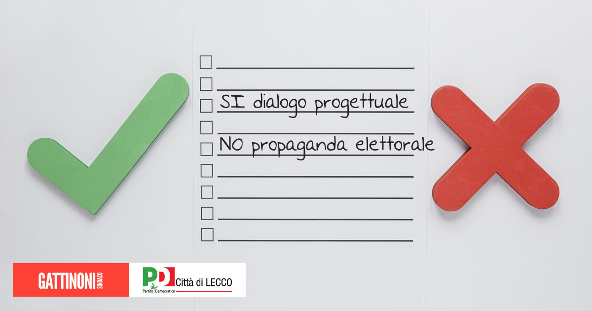 coalizione centrosinistra Lecco Gattinoni sindaco
