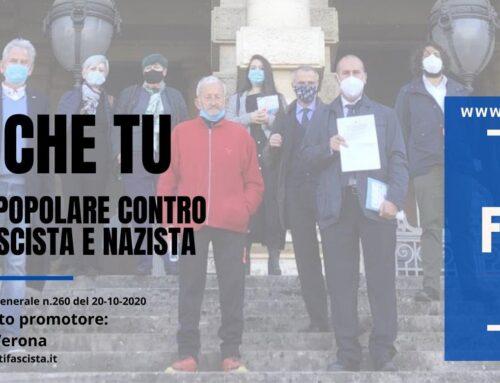 Mai più fascismo: una proposta di legge di iniziativa popolare #maipiufascismo